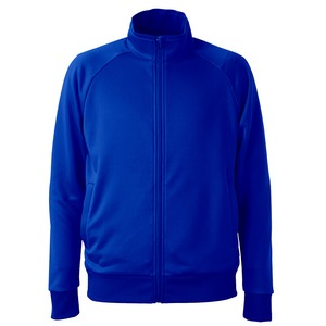 UVカット・吸汗速乾・ドライジャージパイルフルジップラグランスリーブジャケット コバルトブルー M