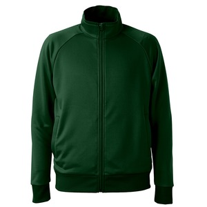 UVカット・吸汗速乾・ドライジャージパイルフルジップラグランスリーブジャケット アビーグリーン L