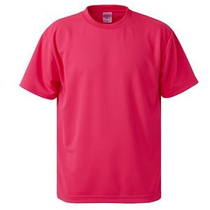 UVカット・吸汗速乾・5枚セット・4.1オンスさらさらドライ Tシャツ蛍光ピンク 150cm