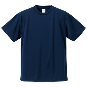 UVカット・吸汗速乾・5枚セット・4.1オンスさらさらドライ Tシャツ ネイビー XL