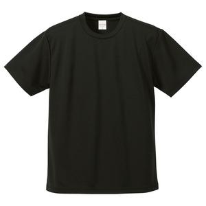 UVカット・吸汗速乾・5枚セット・4.1オンスさらさらドライ Tシャツ ブラック XXXXL