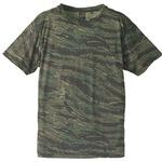 自衛隊海外派遣使用・立体裁断・吸汗速乾さらさらドライ 迷彩 Tシャツ タイガー L