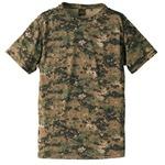 自衛隊海外派遣使用・立体裁断・吸汗速乾さらさらドライ 迷彩 Tシャツ ピクセルウッドランド S