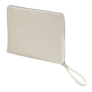 14.3オンス帆布製綿キャンパスコットンクラッチバッグ ナチュラル