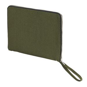 14.3オンス帆布製綿キャンパスコットンクラッチバッグ・OD/ブラック