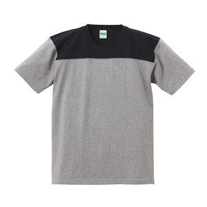 7.1オンスUSコットンオープンエンドヤーン フットボール Tシャツ ミックスグレー/ブラック XL