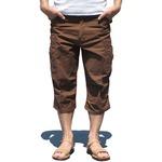 USタイプ「 M-65」フィールドパンツ 七部丈 ブラウン メンズ Sサイズ 【 レプリカ 】