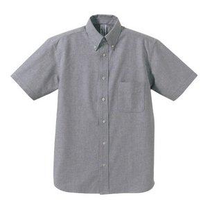 クールビズ対応オックスフォードボタンダウン半袖シャツ CB1068 O X グレー XLサイズ