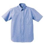 クールビズ対応オックスフォードボタンダウン半袖シャツ CB1068 OXブルー Lサイズ