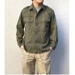 オーストリア軍 放出フィールドシャツ【中古】 オリーブ系 104-108(XL相当)