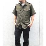 Jオーストリア軍 放出フィールド半袖ムジシャツ【中古】 オリーブ系 112-116(XXL相当)