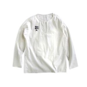 チェコ軍放出70'sパジャマシャツホワイト未使用デットストック M〜L
