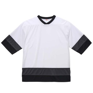 UVカット・吸汗速乾・4.1オンスホッケーTシャツ S  ホワイト/ガンメタル/ブラック