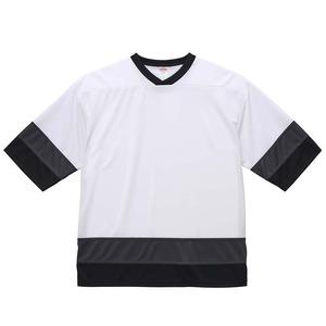 UVカット・吸汗速乾・4.1オンスホッケーTシャツ M  ホワイト/ガンメタル/ブラック