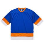 UVカット・吸汗速乾・4.1オンスホッケーTシャツ M  コバルトブルー/オレンジ/ホワイト