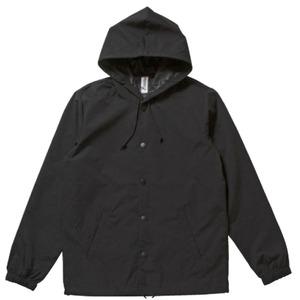 【インディペンデント】フード付き撥水・防風ウインドウブレーカー ブラック×ブラック L