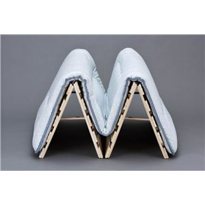 桐四つ折りすのこベッド 長板タイプ シングル (日本製)