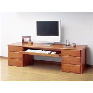 木製文机(スライドテーブル付き)両袖