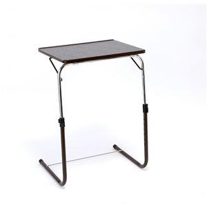 角度調整付折りたたみテーブル(補強バー付) ブラウン
