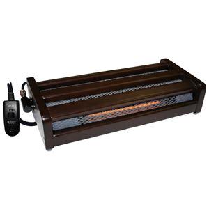 足置きハロゲンフットヒーター/暖房器具 【小】 幅49cm 無段階温度調節 手元コントローラー 〔防寒 冬支度 寒さ対策〕