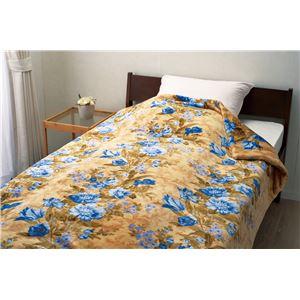 【京都西川】 ヘムレスわた入り2枚合わせ毛布 【ブルー】 140cm×200cm 側生地:ポリエステル100%