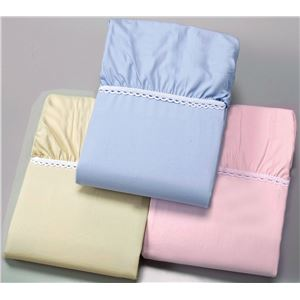 【京都西川】綿100%ベッドシーツ ブルー シングル