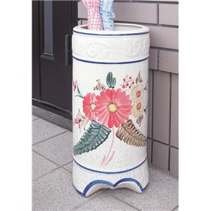 陶器傘立て 花柄