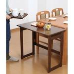 木製 折りたたみテーブル/補助机 【高さ69cm ナチュラル】 幅80cm 木目調 【完成品】