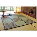 紋織い草中敷 桂ブラウン 230×230cm