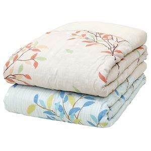 メキシコ綿入り 肌掛け布団 【ひより ベージュ】 シングル 日本製 綿100% 〔ベッドルーム 寝室〕
