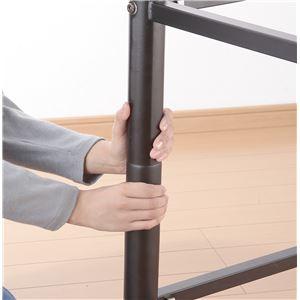 高さ調節可能ロフトベッド ブラウン キシミ低減マット使用