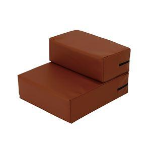 抗菌・難燃PVCレザーのドッグステップブラウン レギュラー 高弾力ウレタン使用