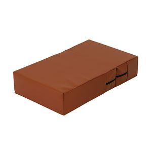 抗菌・難燃PVCレザーのドッグステップブラウン ラージ 高弾力ウレタン使用