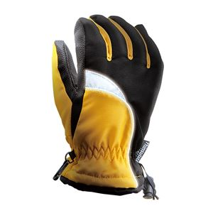 完全防水防寒手袋 2枚組 【イエロー M】 ワンタッチ絞り付き 撥水 『ホットエースプロ』 〔通勤 通学 アウトドア〕