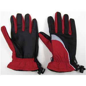 「ホットエースプロ」2双組 レッド M 完全防水防寒手袋