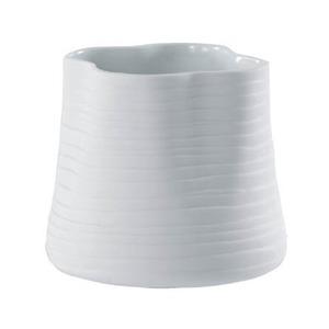 【6個入】花器(花瓶/フラワーベース) エフ ルーズィー φ13cm 穴無し ホワイト(白) 〔ガーデニング用品/園芸〕