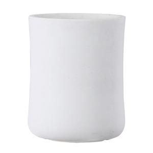 ファイバークレイ製 軽量植木鉢 バスク ミドル 44cm ホワイト