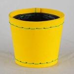 SUKI ラウンド 外径14.5cm イエロー 【2個入り】/樹脂製ポット