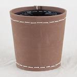 SUKI ラウンド 外径17.5cm ブラウン 【2個入り】/樹脂製ポット