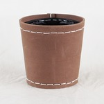 SUKI ラウンド 外径12cm ブラウン 【4個入り】/樹脂製ポット