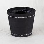 SUKI ラウンド 外径12cm ブラック 【4個入り】/樹脂製ポット