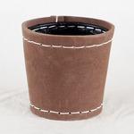 SUKI ラウンド 外径12.5cm ブラウン 【4個入り】/樹脂製ポット