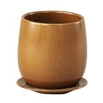 インテリアポット 陶器製植木鉢 カーム ボール イエロー 13cm 4個入り