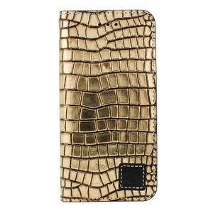 iPhone6/6s ケース 手帳 本革 Wetherby・Premium Black iPhone6 iPhone6s レザー 本革  (Sqiare Gold)