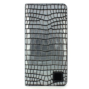 iPhone6/6s ケース 手帳 本革 Wetherby・Premium Black iPhone6 iPhone6s レザー 本革  (Square Silver)