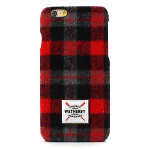 iPhone6s Plus アイフォン6s Plus ケース iPhone6 Plus カバー DESIGNSKIN Wetherby Tweed Bartype for iPhone6 Plus iPhone6s Plus ケ−ス カバー ツイード ハードケース アイフォンカバー (Red)