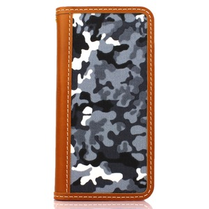 iPhone6 /6s  ケース 手帳  本革 CANVAS iPhone6  iPhone6s  レザー 本革 (CAMO/GRAY)