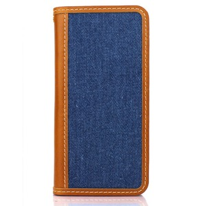 iPhone6 /6s  ケース 手帳  本革  DENIM iPhone6  iPhone6s  レザー 本革 (BLUE)