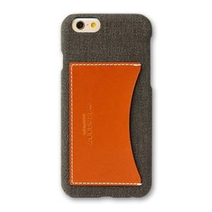iPhone6 Plusケース iPhone6S Plus カバー WETHERBY CANVAS BAR TYPE-POCKET カードポケット付き ケース (POCKET/GRAY)