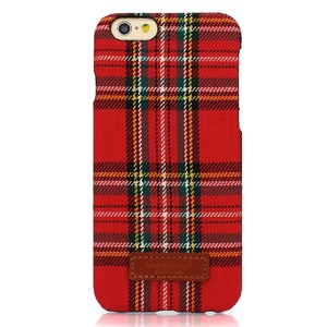 iPhone6  iPhone6S カバーDESIGNSKIN 15FW Bartype Check  (Red)